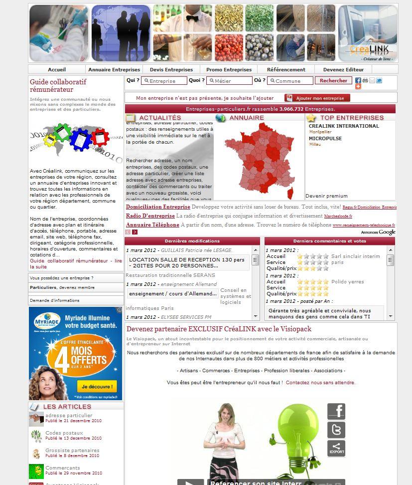 www.entreprises-particuliers.fr